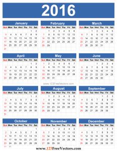 2016-calendar-free-vector